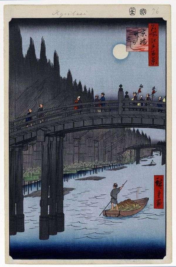 Kebasi BridgeとTakegashi Quay   歌川広重