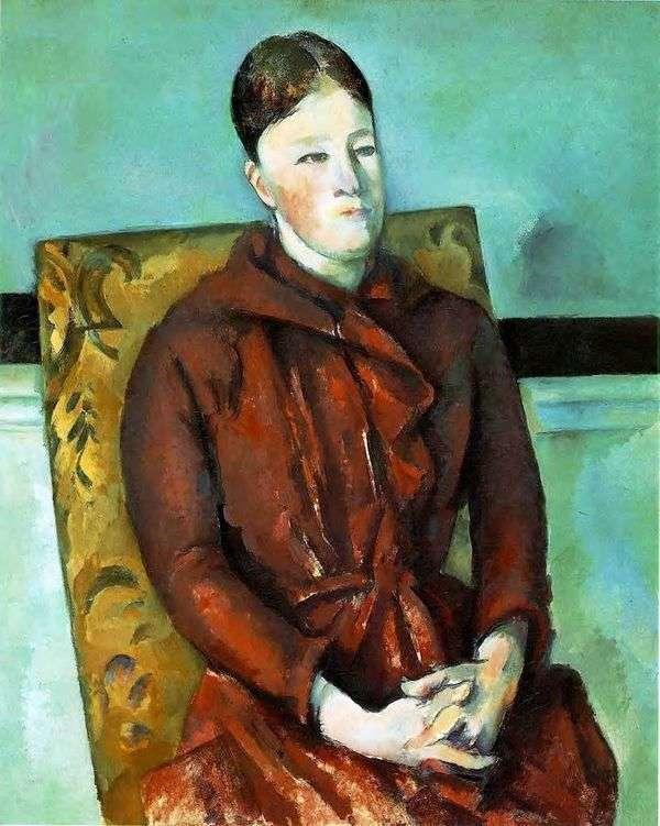 黄色い椅子の中のアーティストの妻   Paul Cezanne