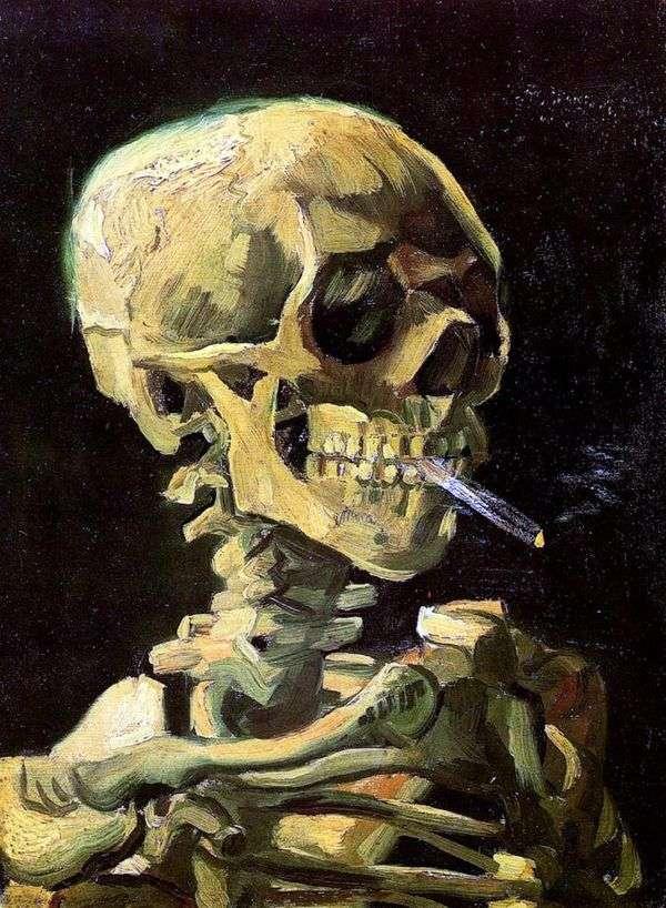 燃えるタバコの頭蓋骨   Vincent Van Gogh