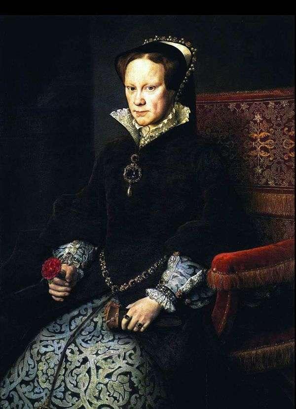 Maria Tudor   Antonis Moro van Dashorstの肖像画
