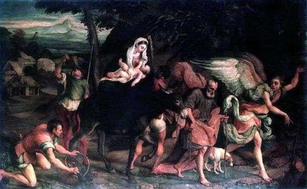 エジプト行きの便   Jacopo Bassano