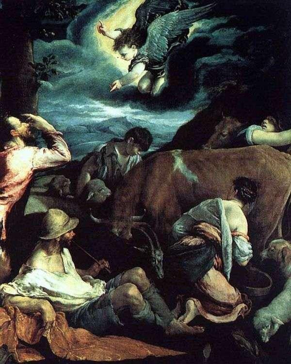 羊飼いへの告知   ジャコポ・バッサーノ