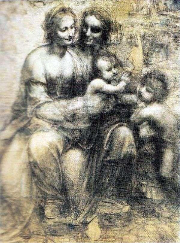 マドンナと子供、アンナとジョン   レオナルドダヴィンチ
