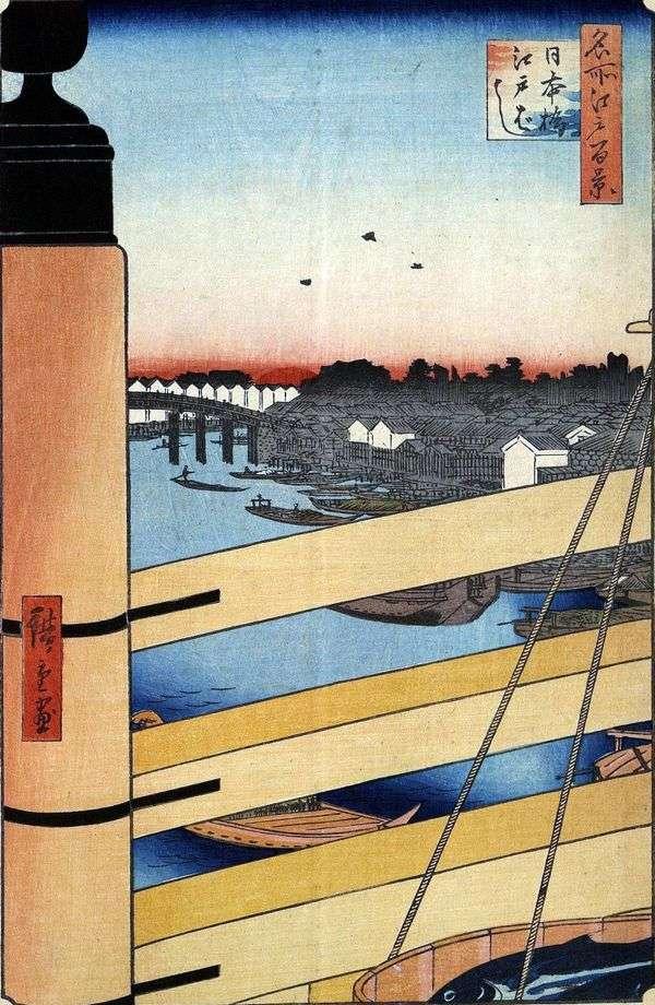 日本橋と江戸橋   歌川広重