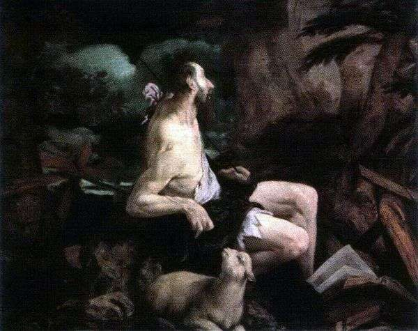 荒野の洗礼者ヨハネ   Jacopo Bassano