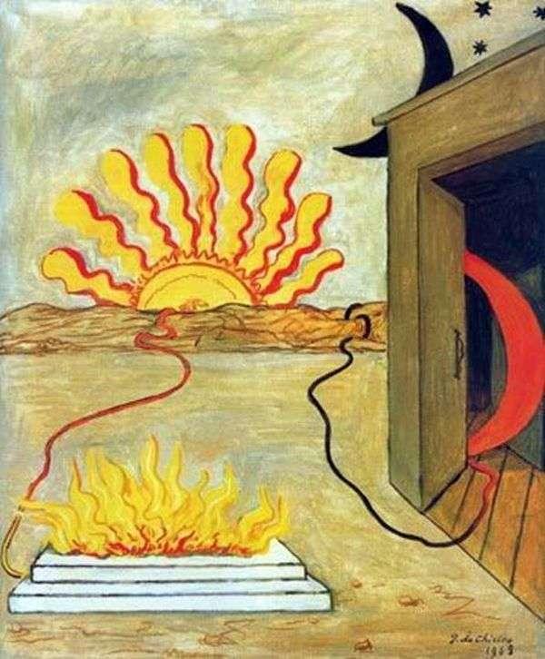 太陽への犠牲   ジョルジョ・デ・キリコ
