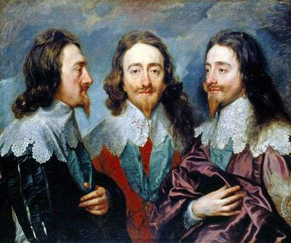 チャールズ1世の3つの角度   Anthony Van Dyck