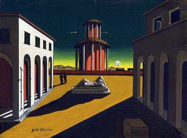 絵画の中のイタリア広場   Giorgio de Chirico
