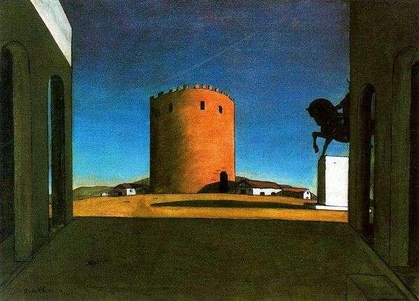 赤い塔   ジョルジョ・デ・キリコ