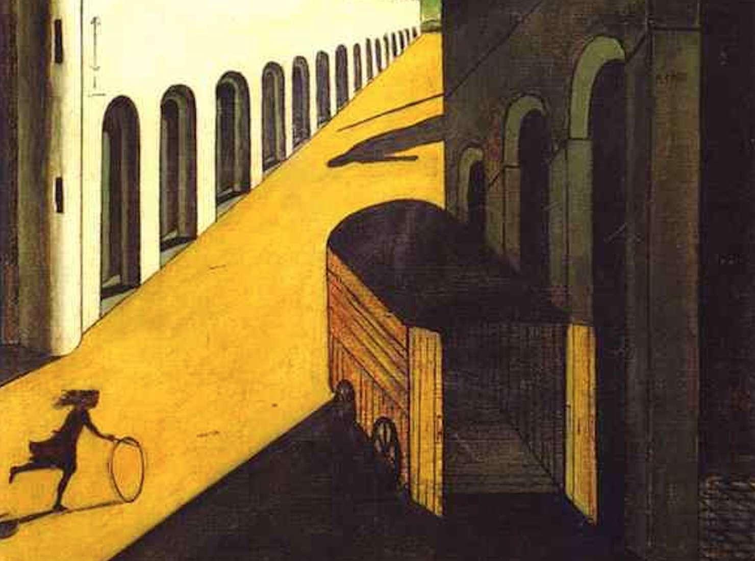 メランコリアと通りの神秘   Giorgio de Chirico