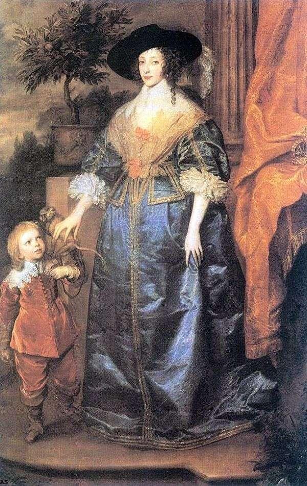 アンリエッタマリア女王とジェフリーハドソン卿   アンソニーヴァンダイク