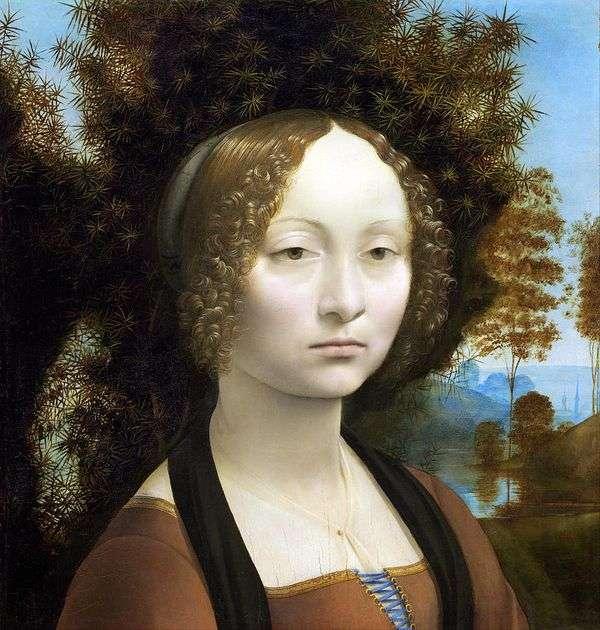 Zinerva de Bensi   レオナルドダヴィンチの肖像