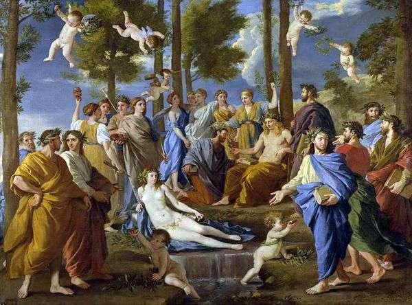 アポロとミューズ(パルナッサス)   Nicolas Poussin