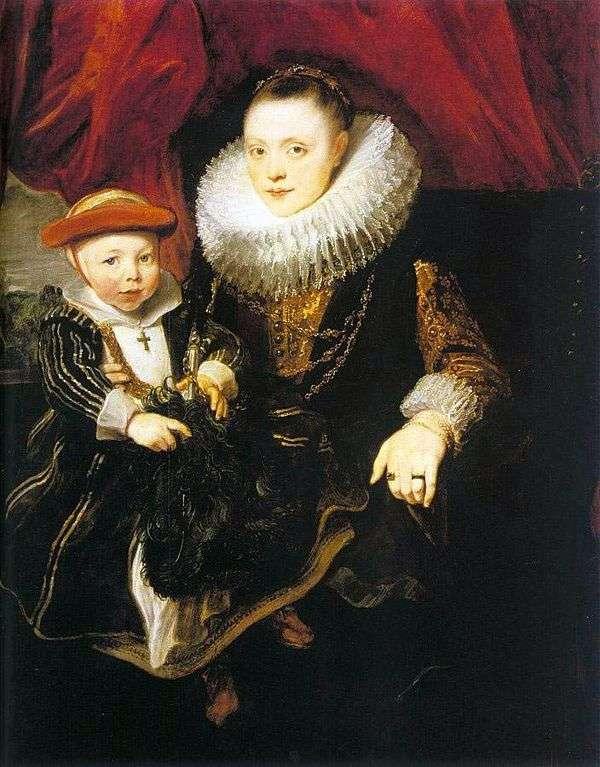 子供を持つ若い女   Anthony Van Dyck