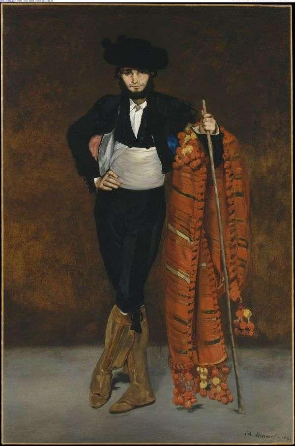 マッチョな衣装の若い男   エドゥアールマネ