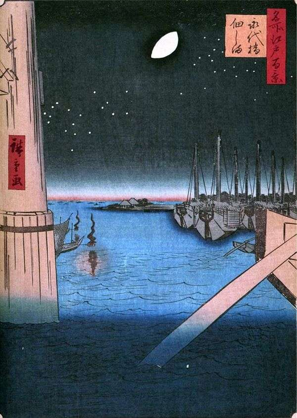 永田橋からつくだ島   歌川広重