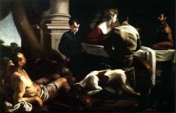 金持ちと貧乏人のラザロのたとえ   Jacopo Bassano