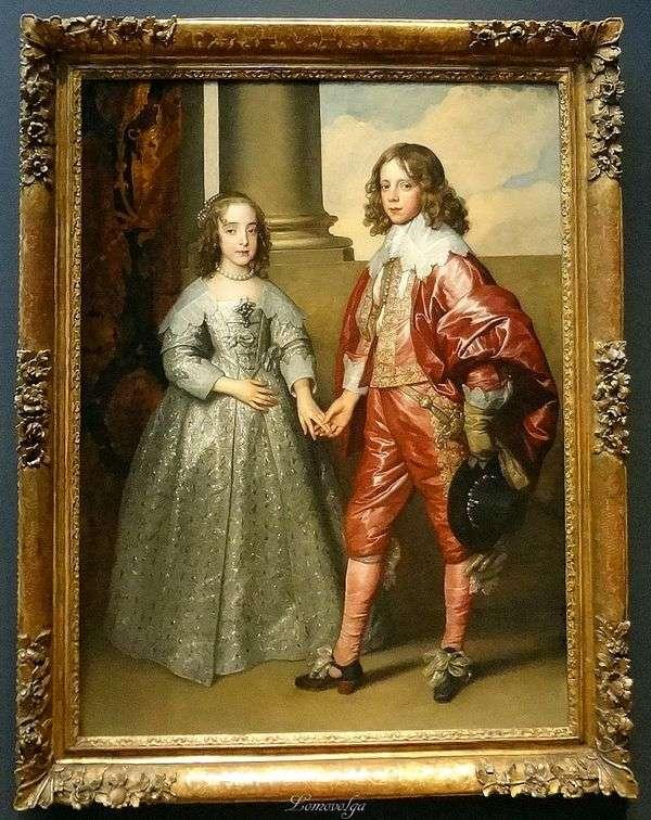 彼の花嫁マリアスチュワート   アンソニーヴァンダイクとオレンジのウィリアムの肖像画