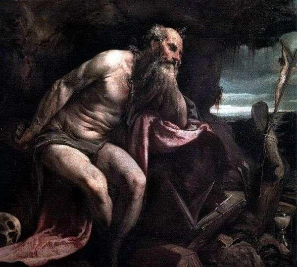 荒野の聖ジェローム   ジャコポ・バッサーノ