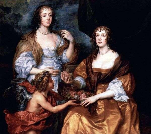 エリザベス・ティンブリ夫人とドロシー・ビスカウンテスアンドーバー   アンソニー・ヴァン・ダイクの肖像