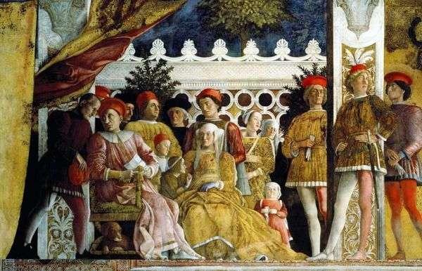 Ludovico Gonzaga、彼の家族と庭   Andrea Mantegna