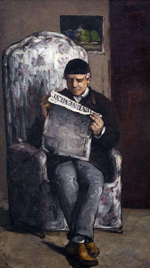 Evenman   Paul Cezanneを読んで、ルイオーギュストセザンヌ、芸術家の父の肖像画