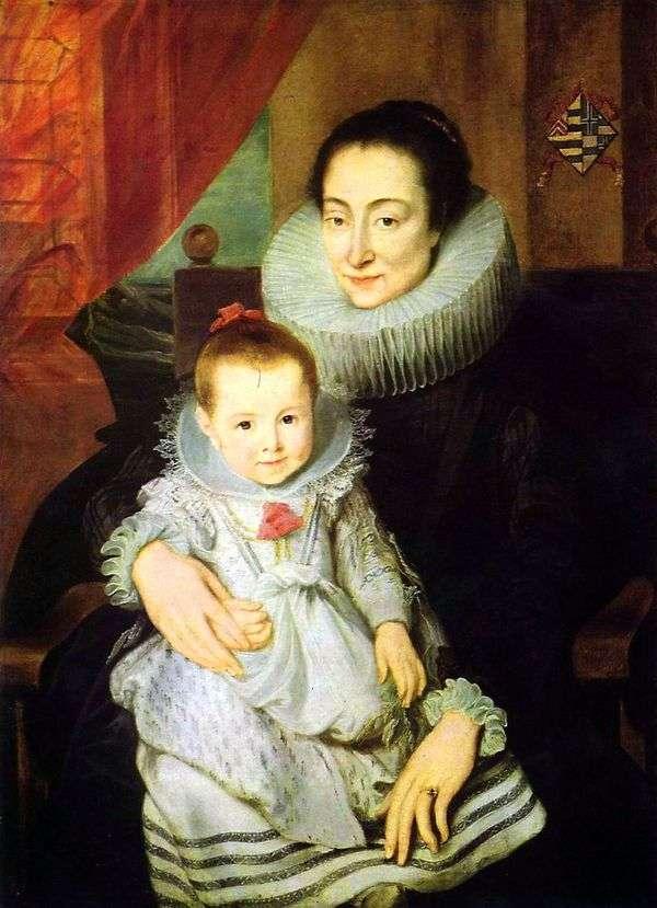 子供と一緒に   Jan Voveriusの妻、Mary Clarissaの肖像   Anthony Van Dyck