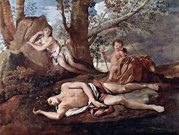 水仙とエコー   Nicolas Poussin