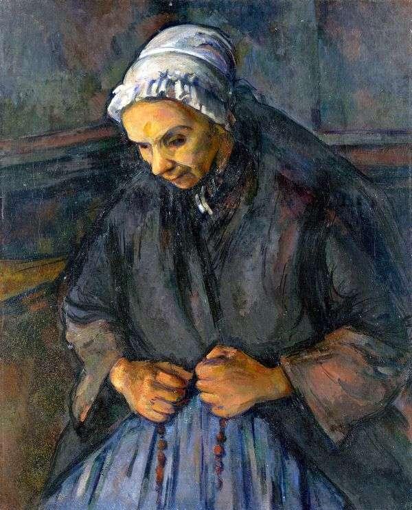 ロザリオの老婦人   Paul Cezanne
