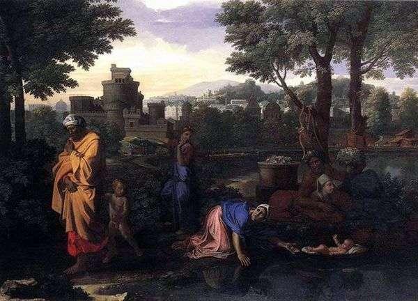 ナイル川でのモーセの放棄   Nicolas Poussin