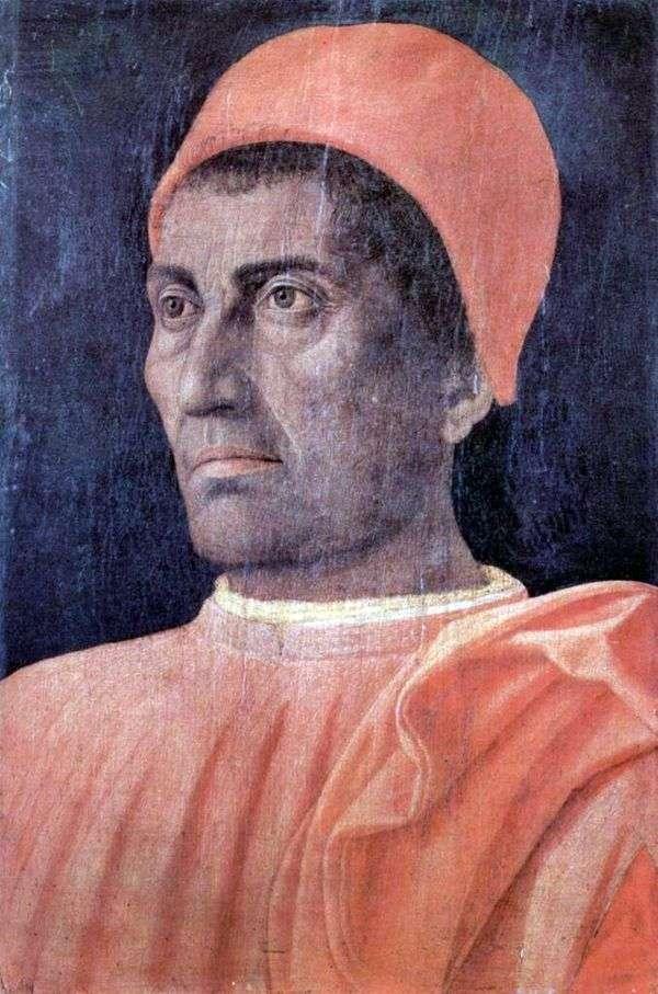 男性の肖像画   アンドレア・マンテーニャ