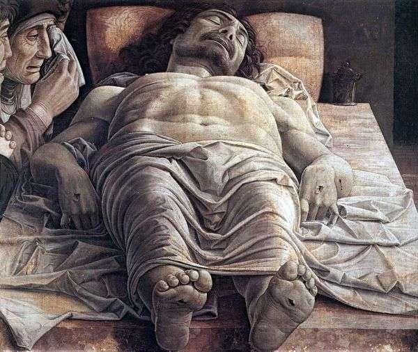 死んだキリストを嘆く   Andrea Mantegna