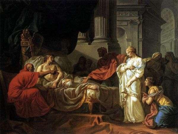 アンティオコスとストラトニカ   Jacques Louis David