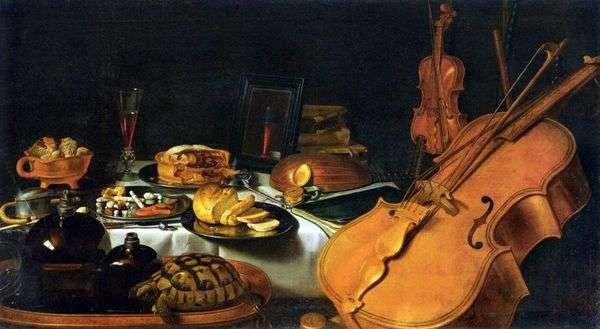 楽器のある静物   Peter Claes