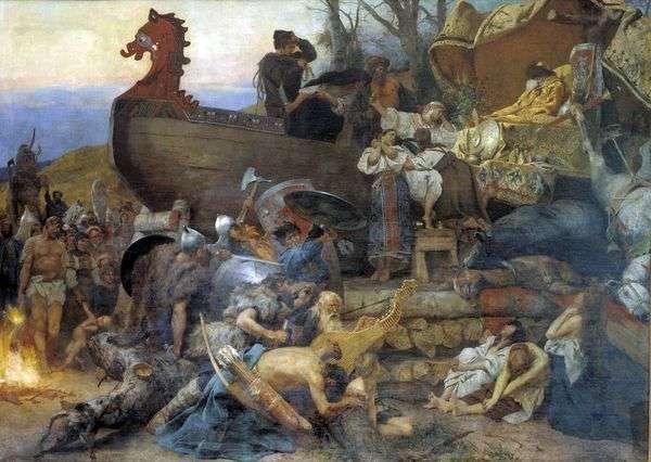 貴族のルーシの葬儀   Heinrich Semiradsky