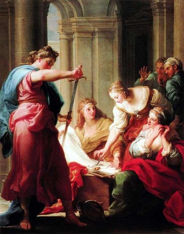 皇帝Likomedの娘のアキレス   ポンピオバトニ
