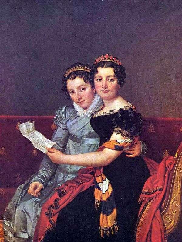 ZinaidaとCharlotte Bonaparte   ジャック・ルイ・ダビデ