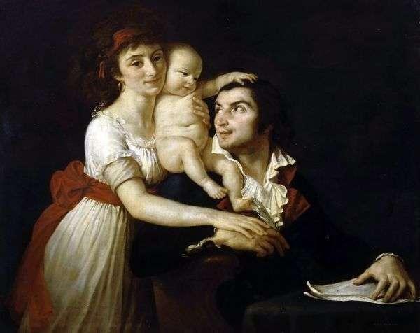 Camille Desmoulins   妻Lucyと子供   Jacques Louis David