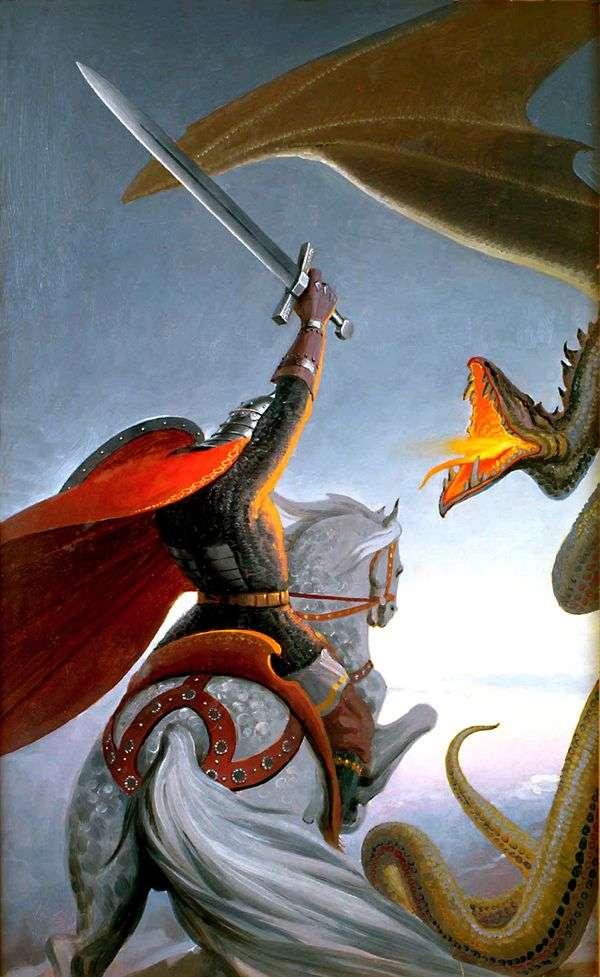 蛇とドブリニの戦い   コンスタンティン・ヴァシリエフ