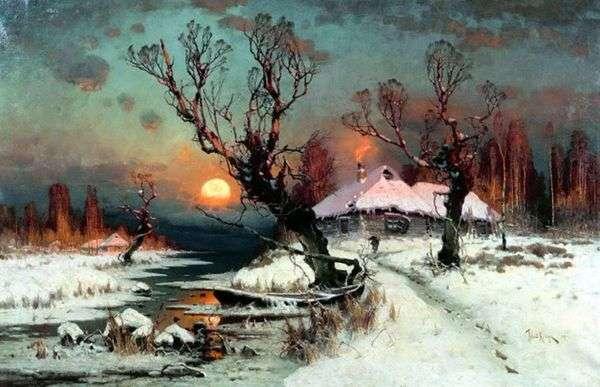 冬の日没   ジュリアス・クローバー