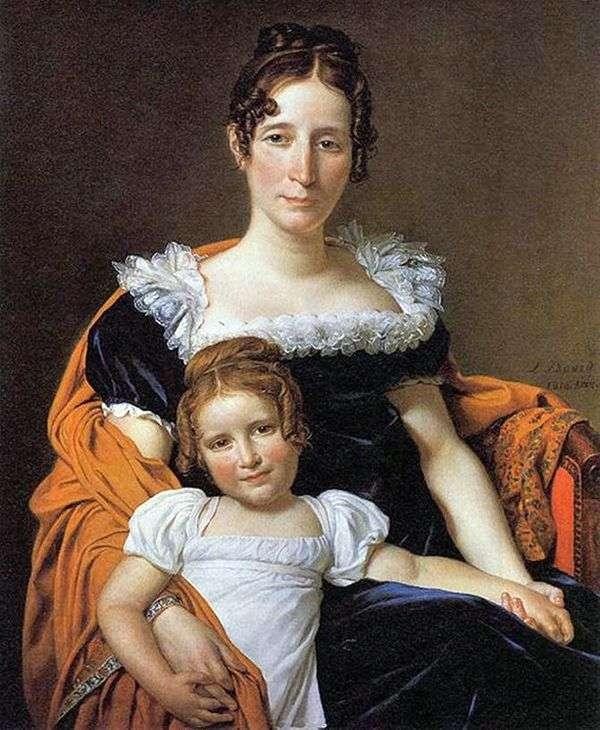 彼女の娘とのKontessa Vilein XIIII   ジャック=ルイ・ダビデ