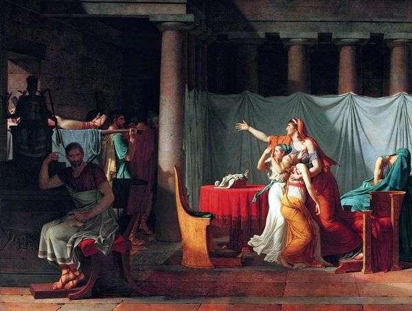 ライターはブルータスを処刑された息子の体に連れてくる   Jacques Louis David