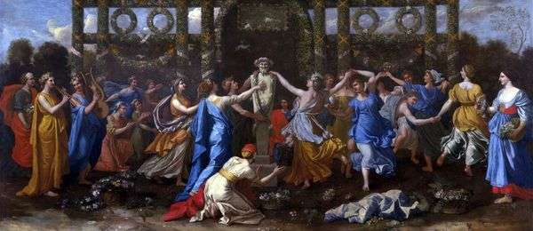 Priapusに敬意を表して踊る   Nicolas Poussin