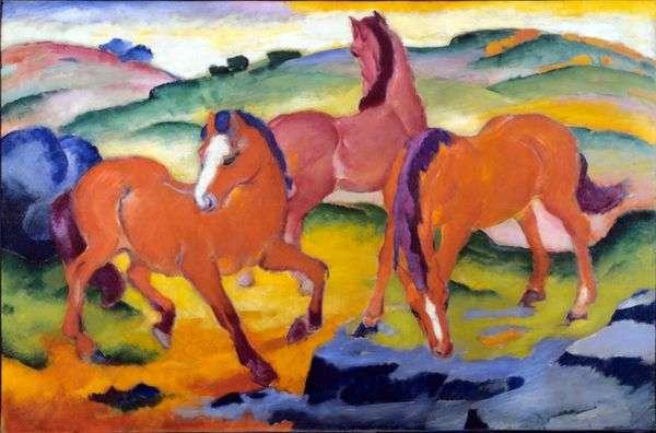 赤い馬   Franz Marc