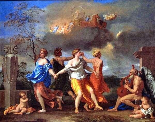 時間の音楽に合わせて踊る   Nicolas Poussin