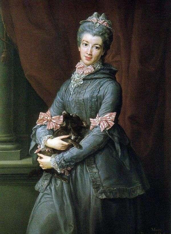 男爵夫人のメアリー・フォックス   ポンペオ・バトニの肖像