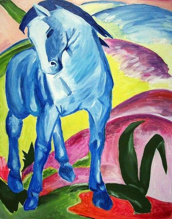 青い馬   Franz Marc