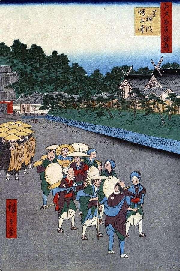 柴シンメイ神社、兄弟姉妹のゾゼジ修道院   歌川広重