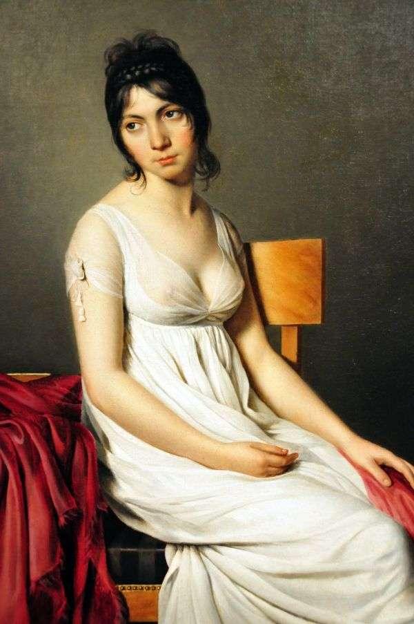 Giovanna Donna in White   ジャック・ルイ・ダヴィッドの肖像