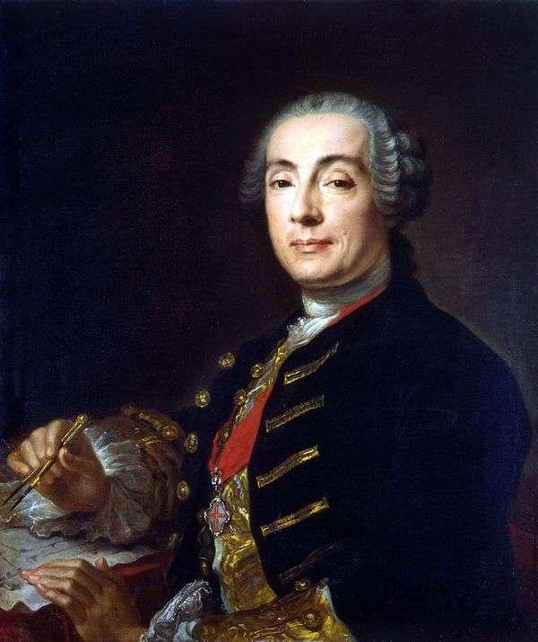 建築家Bartolomeo Francesco Rastrelli   Pfanzeltの肖像画